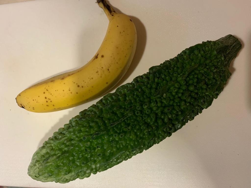 ゴーヤとバナナのジュース